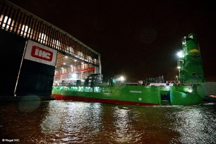The first LNG-driven dredging vessel Spartacus.
