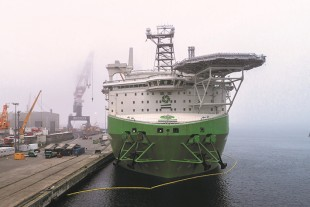 "DEME's offshore installation vessel ""Orion"" reaches Liebherr-MCCtec Rostock GmbH"