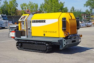 Special feature: If both the pump and the drilling rig are from Liebherr, the two construction machines can communicate with each other via radio.