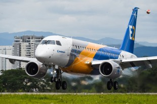 Liebherr provides major systems for the Embraer E175-E2. - Copyright Embraer