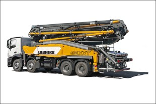 The Powerbloc drive unit and the 42 M5 XXT truck-mounted concrete pump will be featured at this year's World of Concrete show.