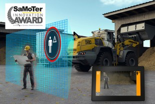 Liebherr's active personnel detection at the rear receives a Samoter Innovation Award 2020 in the wheel loader category. From the end of the year, Liebherr will expand the assistance system to include a supportive braking function.