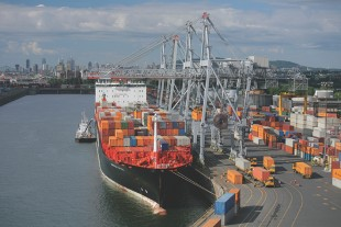 Existing Liebherr ship to shore container cranes at Montreal Gateway Terminals Partnership