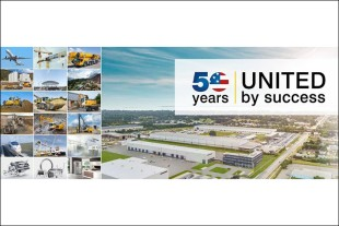 Liebherr celebrates its 50th anniversary in the United States.