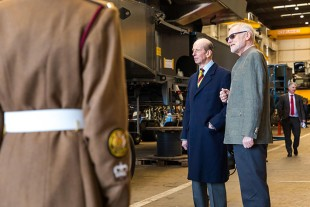 (l-r) His Royal Highness, The Duke of Kent and Ralph Saelzer, managing director of Liebherr Sunderland Works.