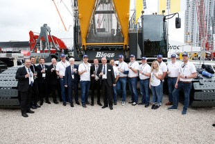 Handover of new Liebherr crawler crane type LR 1300.1 to Bigge Crane and Rigging during Conexpo 2020 show