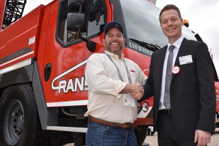 Cranes, Inc. President Rob Weiss and Daniel PItzer of Liebherr USA, Co. Mobile and Crawler Cranes Division.