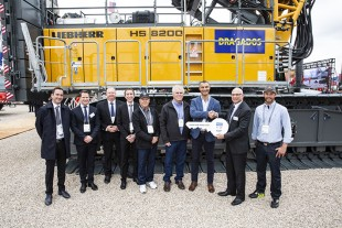 Handover of new Liebherr duty cycle crawler crane type HS 8200 to Dragados USA, Inc. during Conexpo 2020 show