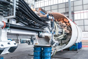 Liebherr main bearings ensure reliable shield rotation of the two Robbins Crossover XRE TBMs.