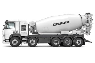 Environmentally friendly concrete transport with the Liebherr ETM 1205 on a Futuricum chassis.