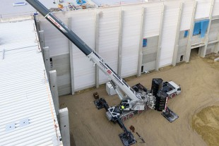 Well planned – the crane was perfectly positioned to enable it to place all the loads in different destinations from a single location.