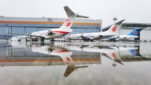 From left to right: OTT Airlines, Air China and China Southern received an ARJ21-700 aircraft each with Liebherr technology on board during a ceremony in Shanghai on June 28, 2020.