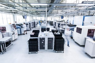 Electronic Manufacturing Services at the Liebherr competence centre for electronics in Lindau (Germany).