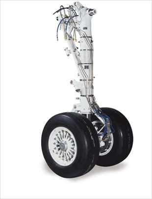 Embraer 195 main landing gear by Liebherr-Aerospace - © Liebherr