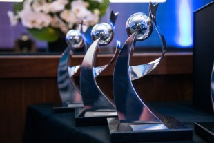 Embraer's Supplier Awards lining up for the ceremony: Liebherr was very honored to receive two of them.