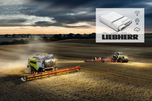 Liebherr's IoT gateways form a reliable interface for CLAAS' digital services. (Source: Werkbild)
