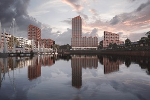This is how the skyline at Europahafen will look when the work has been completed.