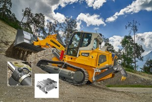 The new Liebherr generation 8 crawler loader is equipped with a LiView position transducer.