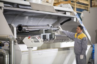 "A fully automatic washing system supports the ""clean"" assembly process."