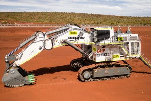 The first R 9600 commissioned at BHP's South Flank mine.