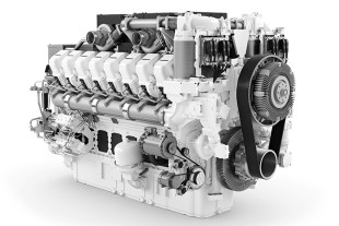 The T 274 equipped with the Liebherr D9816 engine marks the beginning of the engine series integration into Liebherr mining equipment.
