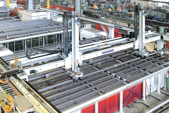 Area gantry for crane components