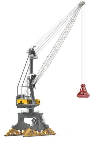 Higher bulk turnover than comparable electrical driven cranes in the market