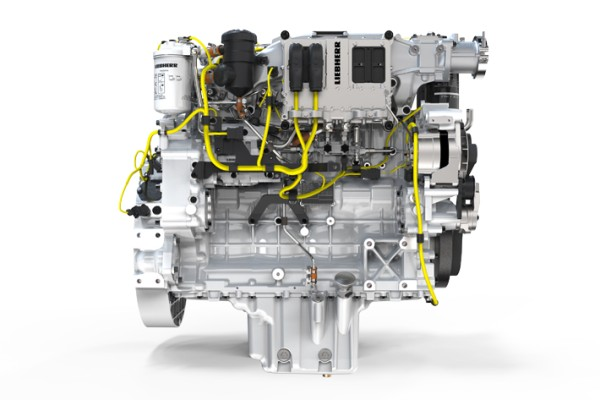 The Liebherr diesel engine with 230 kW in combination with the hydrostatic drive contributes significantly to low fuel consumption.
