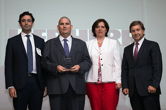 Liebherr SpA Chile wins award from German-Chilean Chamber of Commerce