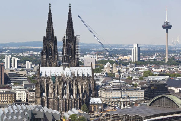 Prominent construction site: Cologne Cathedral, the Ludwig Museum and Central Station