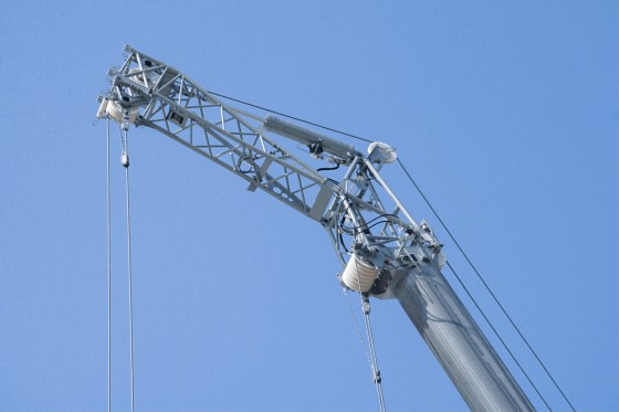 Integral erection jib
