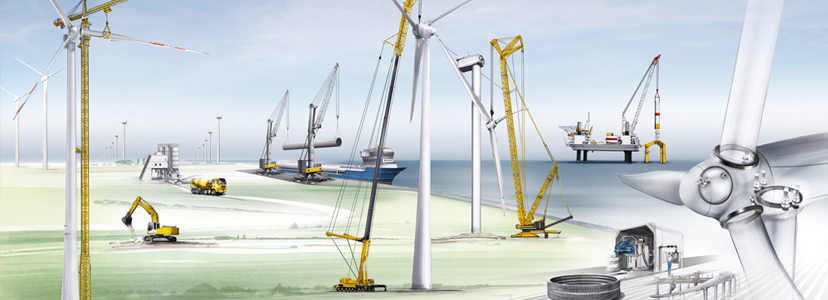 A strong partner for the wind industry - Liebherr